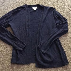 Sweaters - Navy open front cardigan